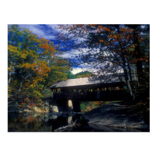 Sunday River Artists Covered Bridge Maine Postcard