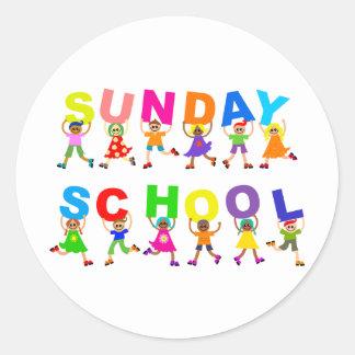 Sunday School Classic Round Sticker