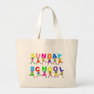 Sunday School Large Tote Bag
