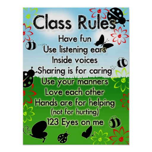 Sunday School Rules Poster Zazzle