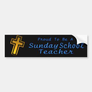 SUNDAY SCHOOL TEACHER BS DK CAR BUMPER STICKER