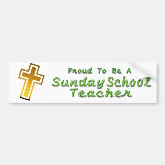SUNDAY SCHOOL TEACHER BS LT BUMPER STICKER
