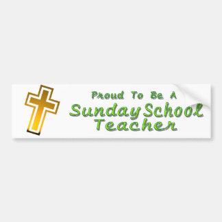 SUNDAY SCHOOL TEACHER BS LT CAR BUMPER STICKER