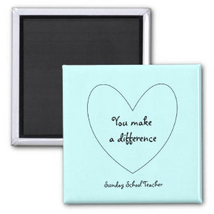 Sunday school teacher gifts on zazzle sunday school teacher magnet negle Image collections