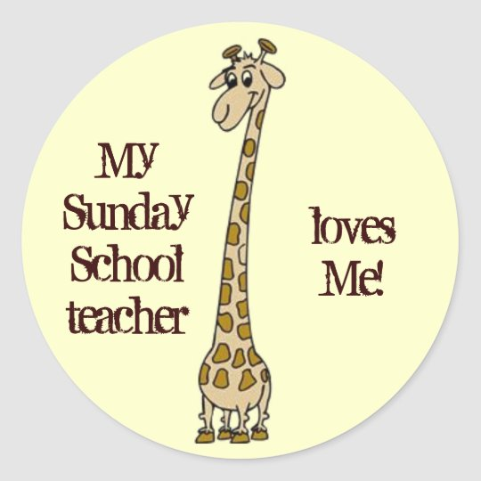 Sunday School Teacher Stickers