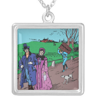 Sunday Stroll Silver Plated Necklace