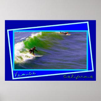 Sunday Surfers in Venice California Print