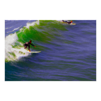Sunday Surfers Poster