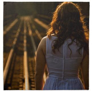 Sunday Tracks Coming Down Cloth Napkin
