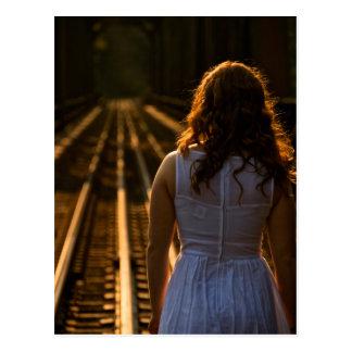 Sunday Tracks Coming Down Postcard