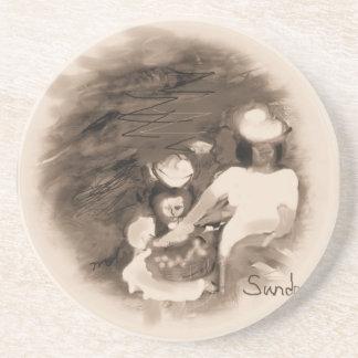 Sundayflowerpickingrustic Coaster