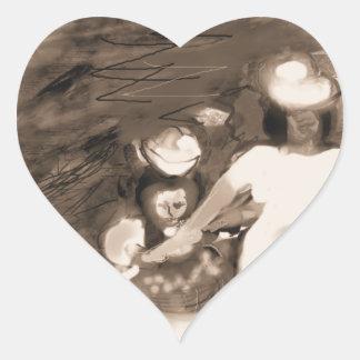 Sundayflowerpickingrustic Heart Sticker
