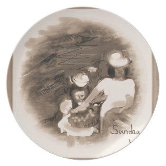 Sundayflowerpickingrustic Plate