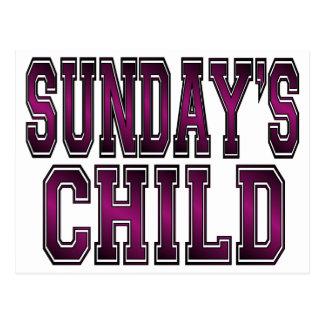 Sunday's Child Postcard