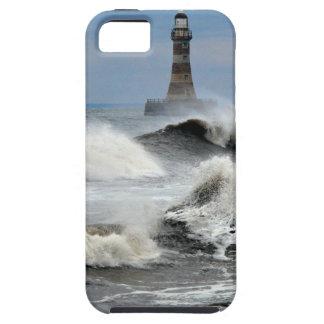 Sunderland - embarcadero y faro de Roker iPhone 5 Fundas