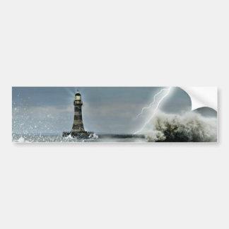 Sunderland - embarcadero y faro de Roker Pegatina Para Auto