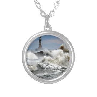 Sunderland - Roker Pier & Lighthouse Silver Plated Necklace