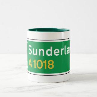 Sunderland UK Road Sign Coffee Mug