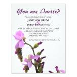 Sundew Flower Purple Wedding Personalized Announcement