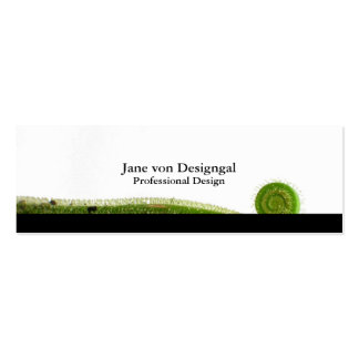 Sundew Frond Double-Sided Mini Business Cards (Pack Of 20)