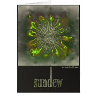 sundew tarjeta de felicitación