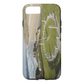 Sundial and Perran Beach, Perranporth, Cornwall, iPhone 7 Case