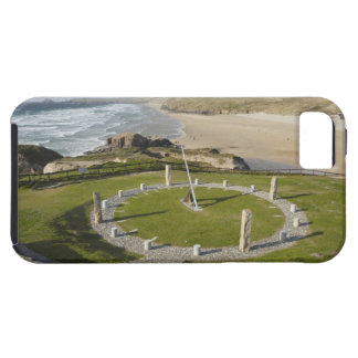 Sundial and Perran Beach, Perranporth, Cornwall, iPhone SE/5/5s Case