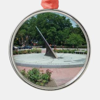 Sundial at Morehead Planetarium, Chapel Hill, NC Metal Ornament