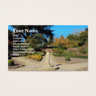 Sundial In The Rookery, Streatham Common Business Card