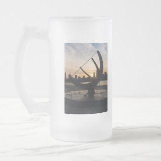 Sundial Sunset Frosted Glass Beer Mug