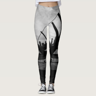 Sundial Sunset Grayscale Leggings