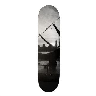 Sundial Sunset Grayscale Skateboard Deck