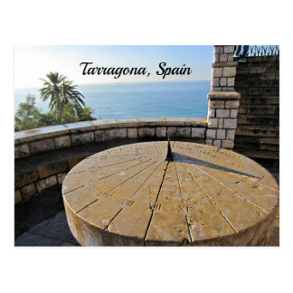 Sundial, Tarragona, Spain Postcard