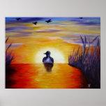 Sundown at the Lake Posters