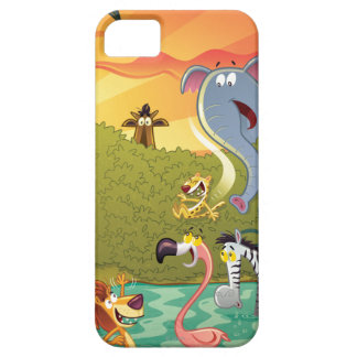 Sundown At The Water Hole iPhone SE/5/5s Case