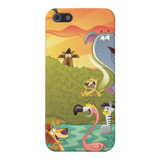 Sundown At The Water Hole iPhone SE/5/5s Cover