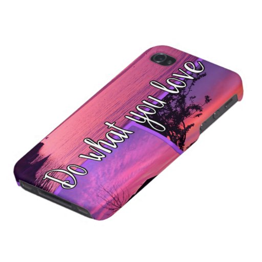 Sundown Electronics   Do What You Love Pink Sunset Case For iPhone 4