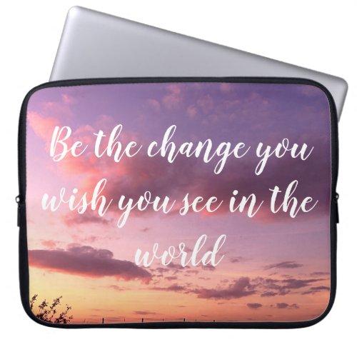 Sundown Electronics  Inspirational Quote Sunset Laptop Sleeve