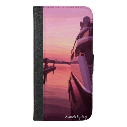 Sundown Electronics | Yacht Sunset Painting iPhone 6/6s Plus Wallet Case
