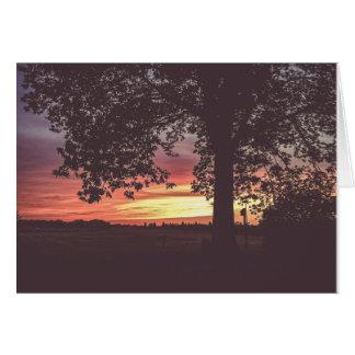 Sundown on the Farm Greeting Card