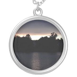 Sundown Over Lake Swan, Georgia Custom Necklace