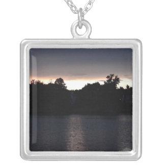 Sundown Over Lake Swan, Georgia Pendants