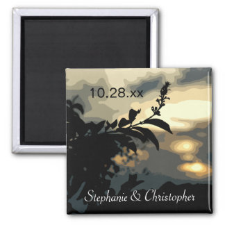 Sundown Silhouette Save the Date Magnets