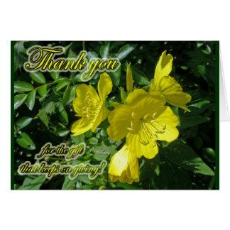 Sundrops Primrose Thank You Card
