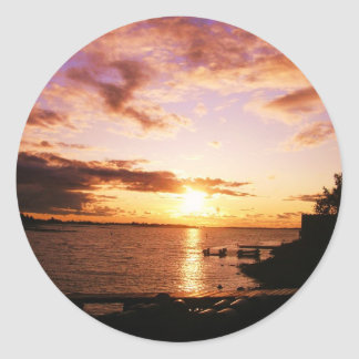 Sunet photo by Hart Classic Round Sticker