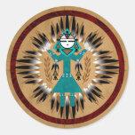 Sunface Kachina Stickers Round Sticker