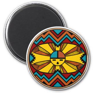SunFaceRound Refrigerator Magnet