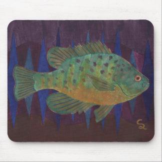 Sunfish de la semilla de calabaza tapete de ratón