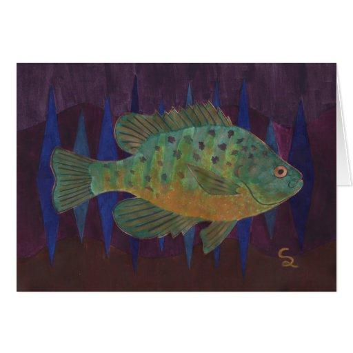 Sunfish de PumpkinSeed Tarjetón