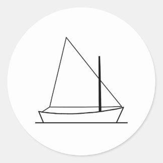 Sunfish Sailing Logo (sail plan) Classic Round Sticker